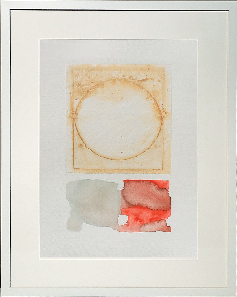 Carrie McGee, Dissolve Watercolor on silk and paper, framed