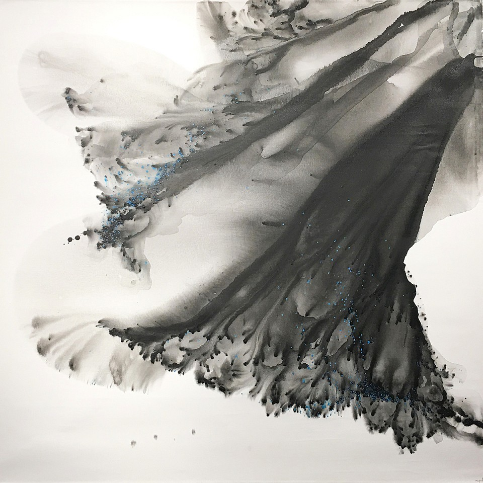 Muriel Napoli, Perpetual Acrylic, water color and ink on canvas