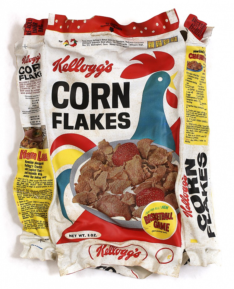 Paul Rousso, Corn Flakes 1965 Mixed media on hand-sculpted styrene