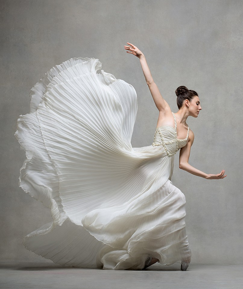 Ken Browar & Deborah Ory, Tiler Peck (in white Valentino) Dye sublimation print on aluminum