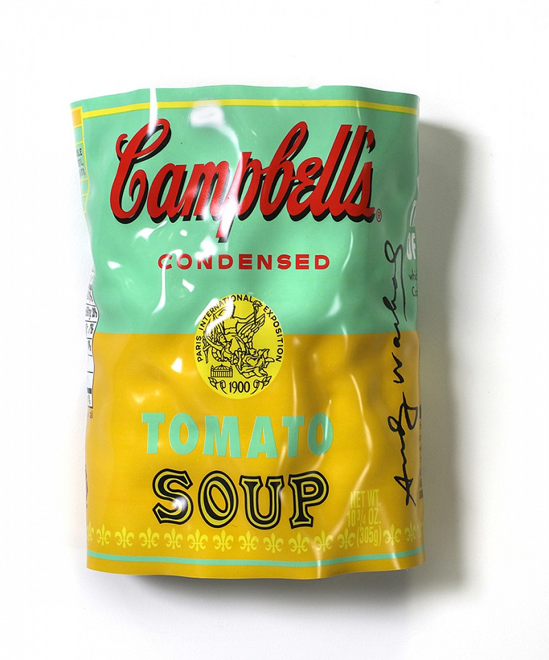 Paul Rousso, Tomato Soup Series #3  (Warhol commission) Mixed media on hand-sculpted polystyrene