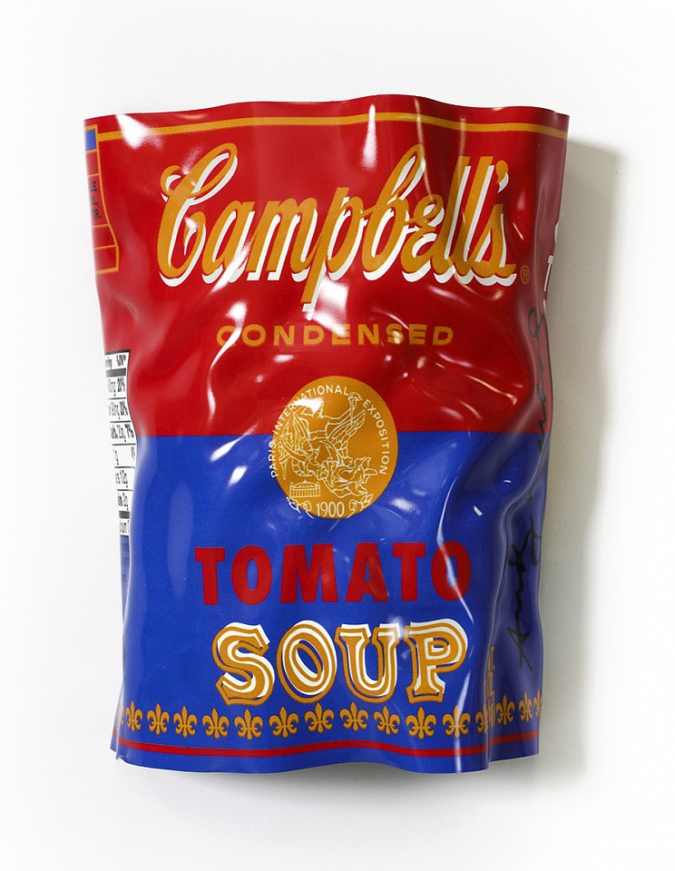 Paul Rousso, Tomato Soup Series #2 (Warhol commission) Mixed media on hand-sculpted polystyrene